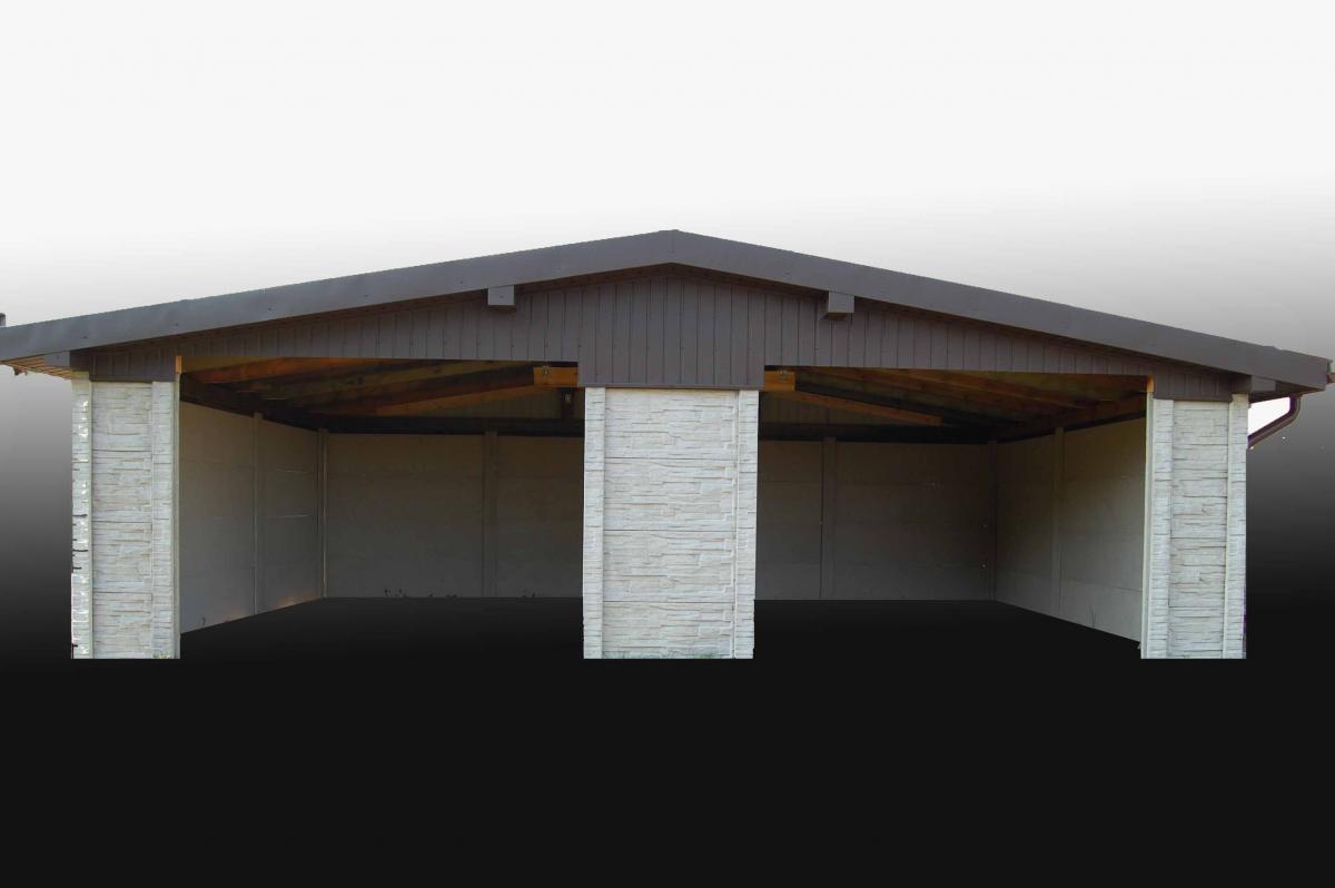 Garaż Z Płyt Betonowych Pamar Ogrodzenia Betonowe